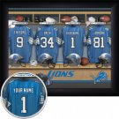 Detroit Lions Framed Custom Jersey Print With Your Name