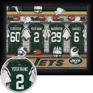 New York Jets Framed Custom Jersey Print With Your Name
