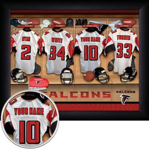 Atlanta Falcons Framed Custom Jersey Print With Your Name