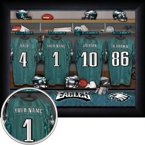 Philadelphia Eagles Framed Custom Jersey Print With Your Name