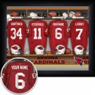 Arizona Cardinals Framed Custom Jersey Print With Your Name