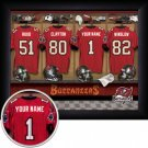 Tampa Bay Buccaneers Framed Custom Jersey Print With Your Name