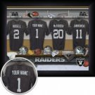 Oakland Raiders Framed Custom Jersey Print With Your Name