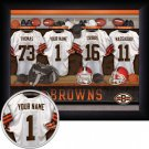 Cleveland Browns Framed Custom Jersey Print With Your Name