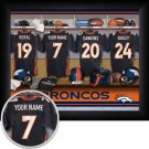 Denver Broncos Framed Custom Jersey Print With Your Name