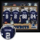 Dallas Cowboys Framed Custom Jersey Print With Your Name