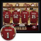 San Francisco 49ers Framed Custom Jersey Print With Your Name