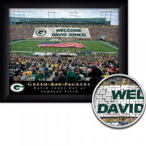 Green Bay Packers Stadium Print With Your Name