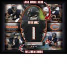 Custom Chicago Bears  Action Print Framed and Personalized