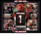 Custom Cincinnati Bengals  Action Print Framed and Personalized