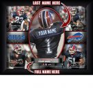 Custom Buffalo Bills  Action Print Framed and Personalized