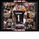 Custom Cleveland Browns  Action Print Framed and Personalized