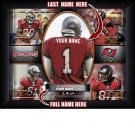 Custom Tampa Bay Bucaneers  Action Print Framed and Personalized