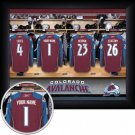 Colorado Avalanche Framed Custom Jersey Print With Your Name