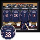 Columbus Blue Jackets Framed Custom Jersey Print With Your Name