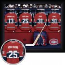Montreal Canadiens Framed Custom Jersey Print With Your Name