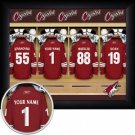 Phoenix Coyotes Framed Custom Jersey Print With Your Name