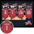 Washington Capitals Framed Custom Jersey Print With Your Name