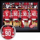 Detroit Red Wings Framed Custom Jersey Print With Your Name