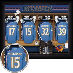 Atlanta Thrashers Framed Custom Jersey Print With Your Name