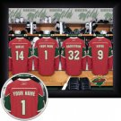 Minnesota Wild Framed Custom Jersey Print With Your Name