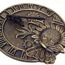 Cast Iron Butterfly on Sunflower Sundial