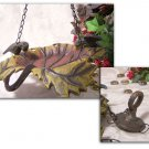 Cast Iron Hanging Leaf Bird Feeder