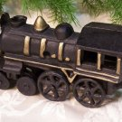 Cast Iron Black & Gold Locomotive