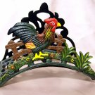 Cast Iron Rooster Garden Hose Holder