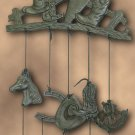 Cast Iron Horse Wind Chime with 5 Bells