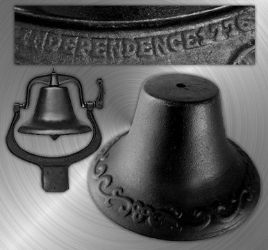Black Cast Iron Farmer's Bell