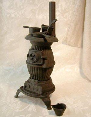 Cast Iron Pot-Bellied Stove Replica