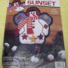 Dimensions Snowman Angel Pillow Felt Kit Christmas-NIP