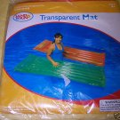Inflatable Transparent Pool Mat Float Orange - NIP