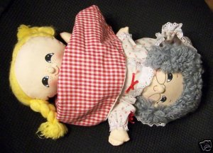 Vintage 3 in 1 Little Red Robin Hood, Grandma/Wolf Doll