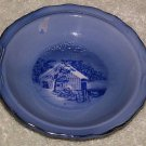 Currier & Ives Saucer Bowl Winter Scene 3 1/2""