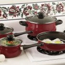 Chefmaster 7pc Non-stick Cookware Set with Look While You Cook See-thru Glass Lids