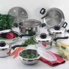 ForeverWareTM 15pc 9-ply Stainless Steel Cookware Set.