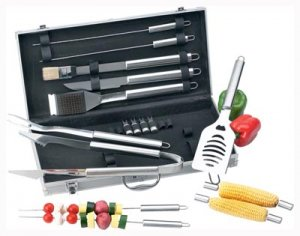 Chefmaster 18pc All Stainless Barbecue Set