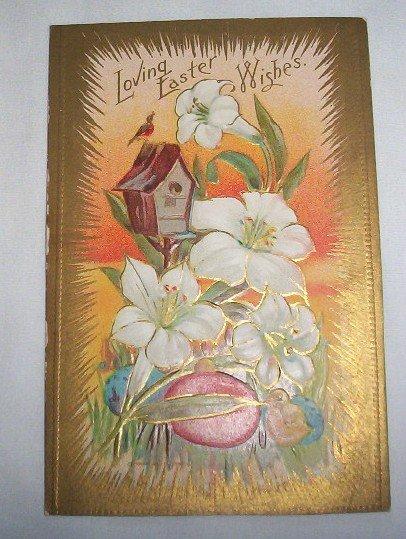 Loving Easter Wishes postcard E12