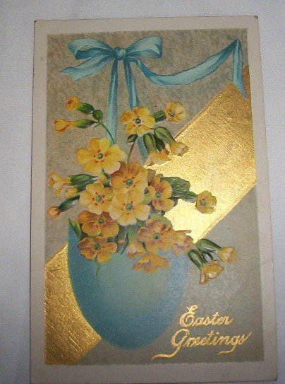 Easter Greetings Postcard  E18