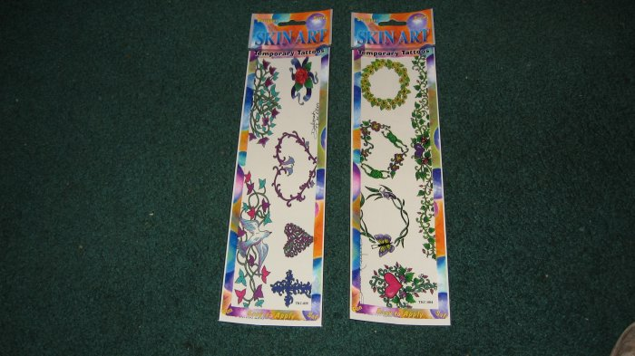 Flower Temporary Tattoos lot of 2 packages #2