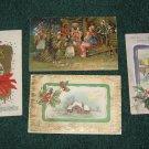 4 Christmas PostCards lot c 11