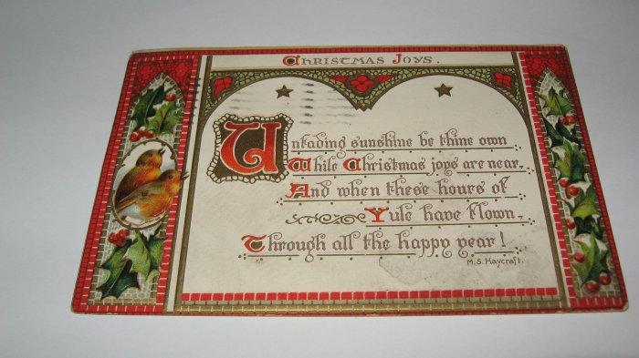 Raphael Tuck & Sons Christmas Joys Postcard Lot c18