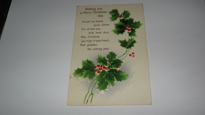 Wishing You a Merry Christmas Day Postcard lot  c21