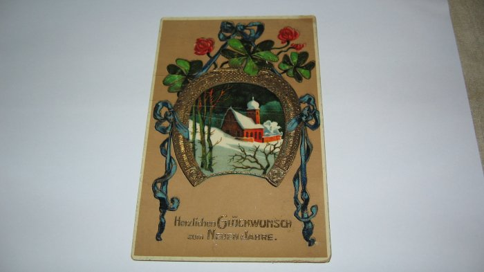 German Postcard with German Verse on the front lot c23