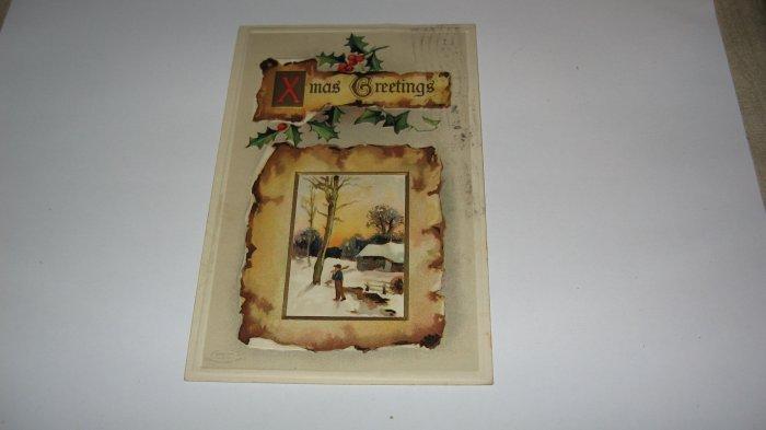 Xmas Greetings Postcard Printed in Germany lot  c 27