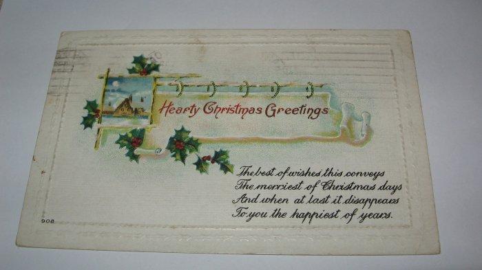 Hearty Christmas Greetings Christmas Postcard lot  C48