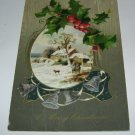 A Merry Christmas hunting scene embossed postcard lot  C51