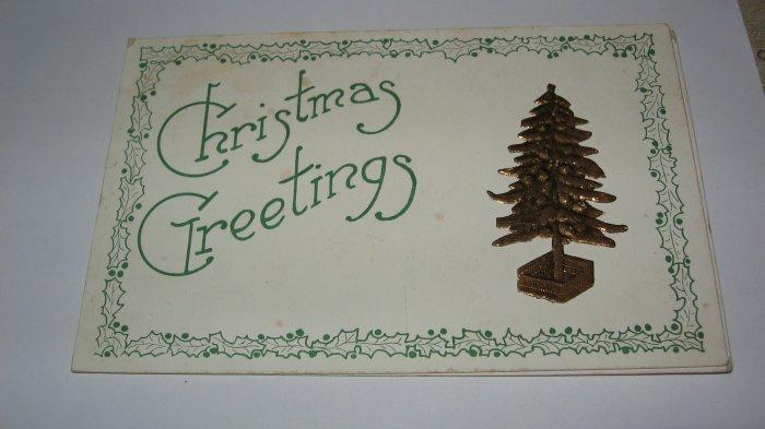 Christmas Greetings embossed tree lot  C56